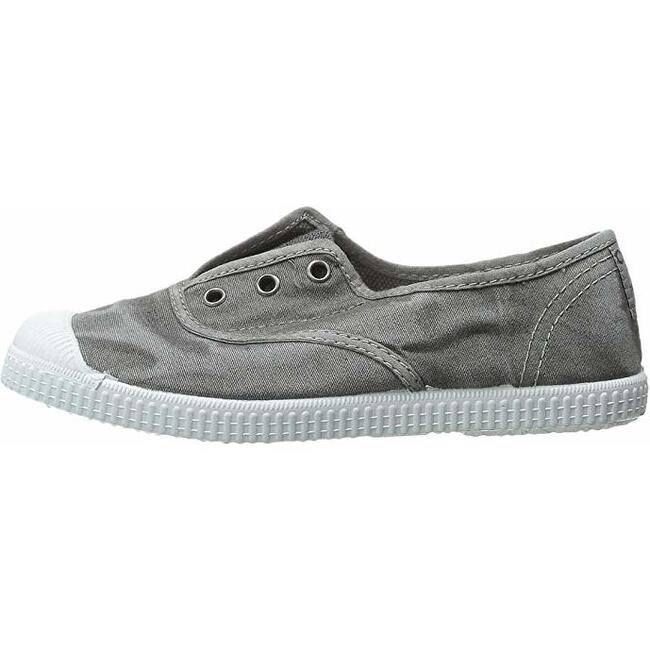 Distressed Canvas Slip On, Washed Grey