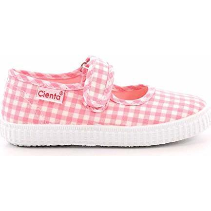 Canvas Mary Jane, Pink Gingham - Mary Janes - 1