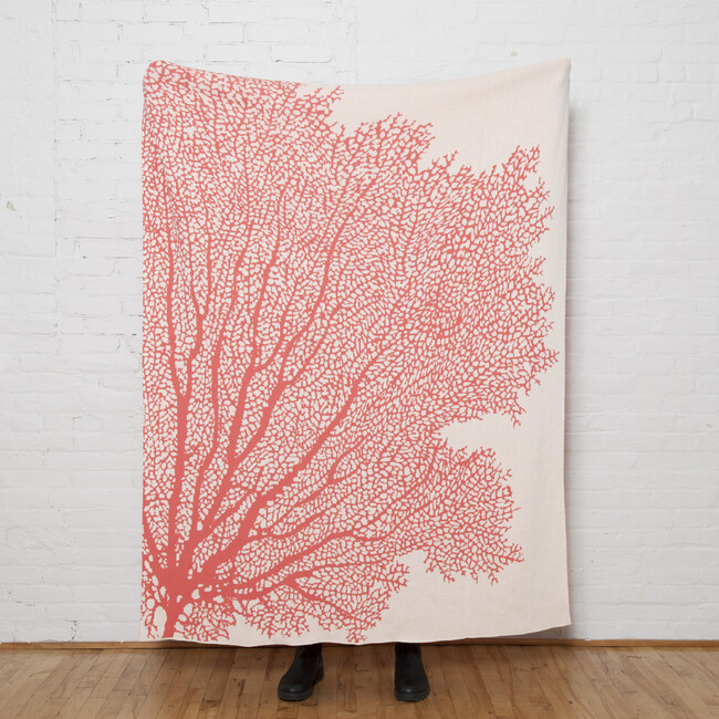Coral Fan Throw, Coral