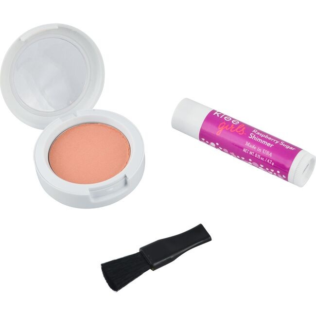 Peachy Pink Delight Natural Blush + Raspberry Lip Shimmer