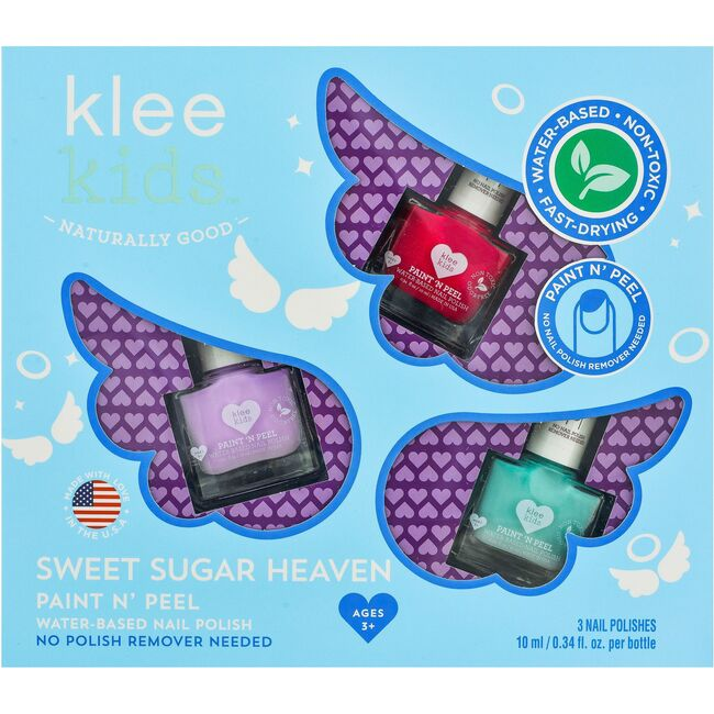 Sweet Sugar Heaven 3-Piece Water-Based Nail Polish Set