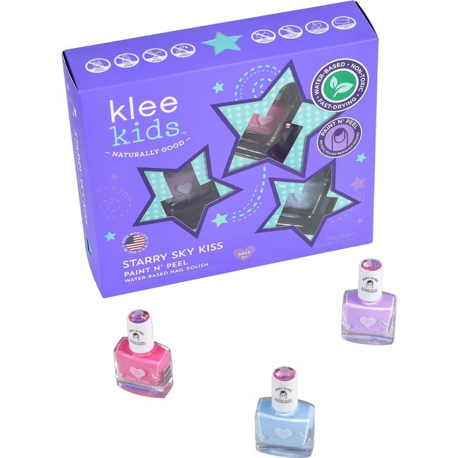 Starry Sky Kiss 3-Piece Water-Based Nail Polish Set - Costume Accessories - 1
