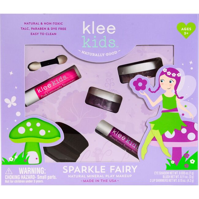 Sparkle Fairy 4-Piece Natural Play Kit with Loose Powder Makeup
