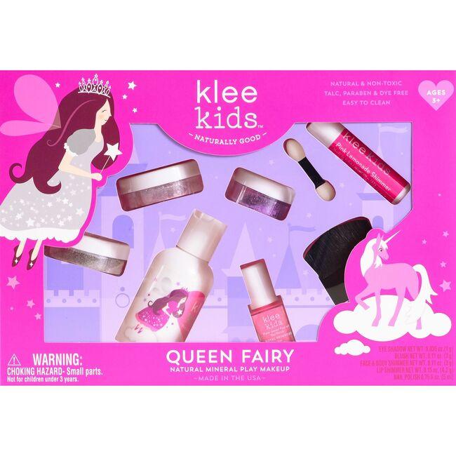 Queen Fairy 6-Piece Natural Play Makeup Kit with Loose Powder Makeup