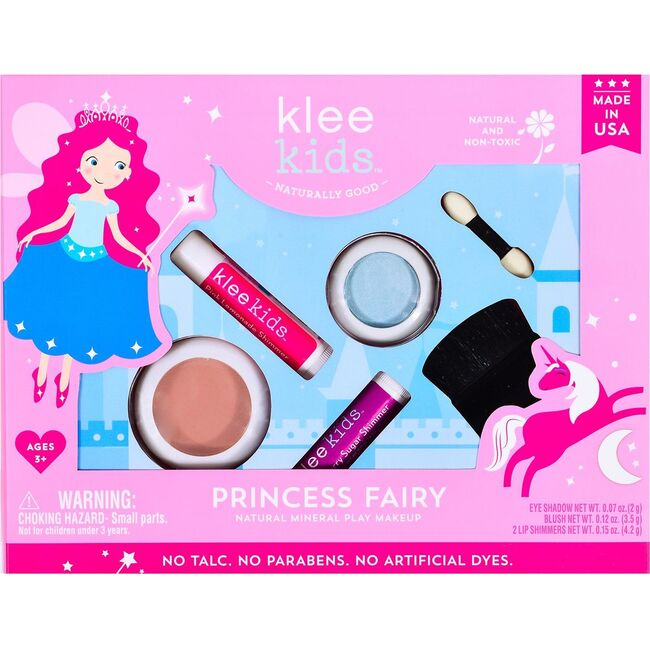 Princess Fairy 4-Piece Natural Play Makeup Kit with Pressed Powder Compacts - Costume Accessories - 1