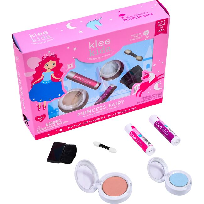 Princess Fairy 4-Piece Natural Play Makeup Kit with Pressed Powder Compacts