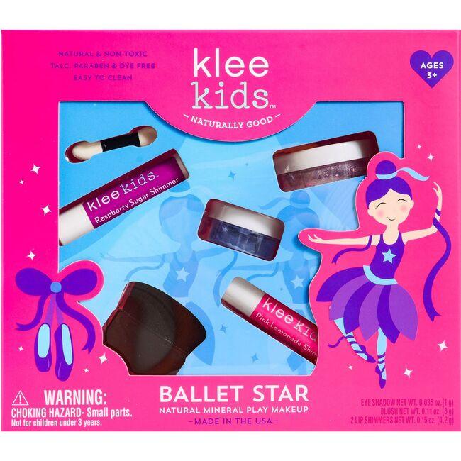 Ballet Star 4-Piece Natural Play Makeup Kit with Loose Powder Makeup