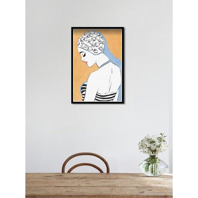 The Swimmer Print, Framed