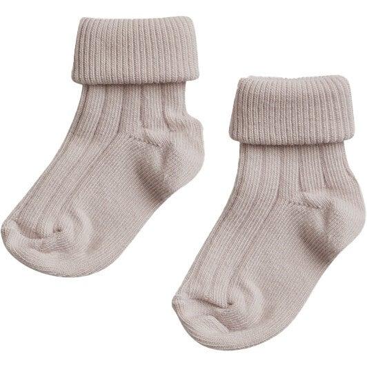 Turn Top Socks, Petal Pink