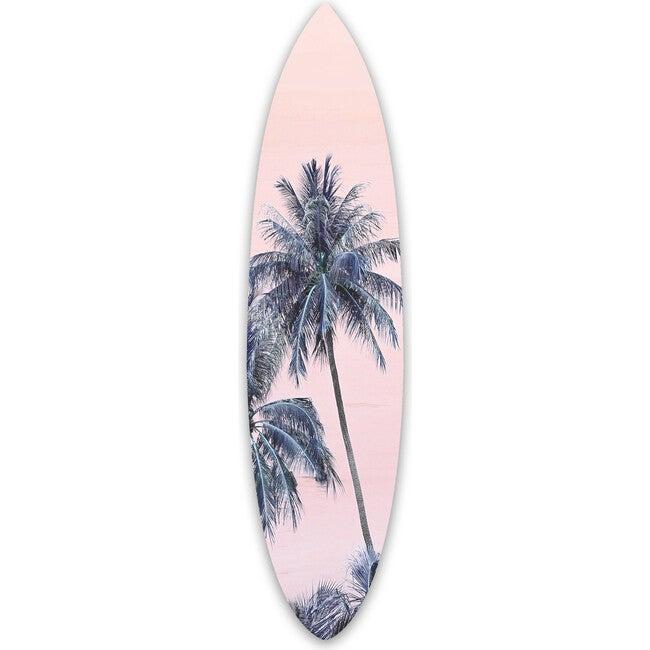 Pink Palm Surfboard, Acrylic