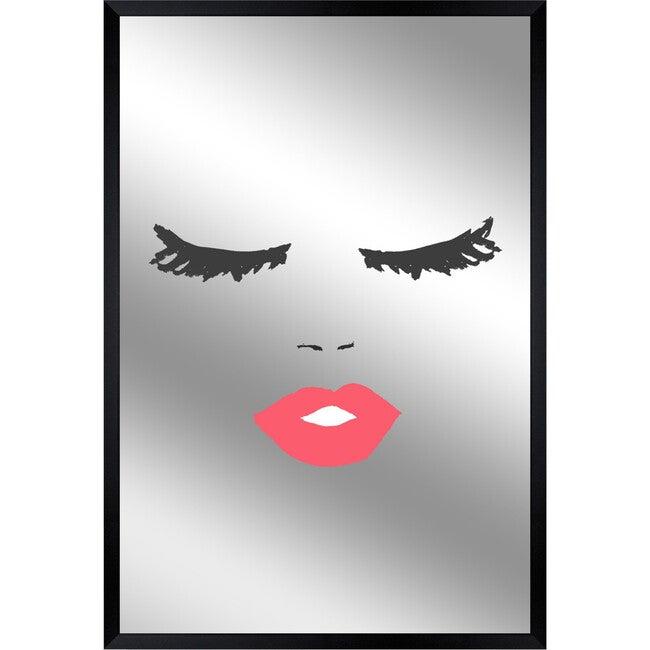 Big Kiss Mirror, Framed