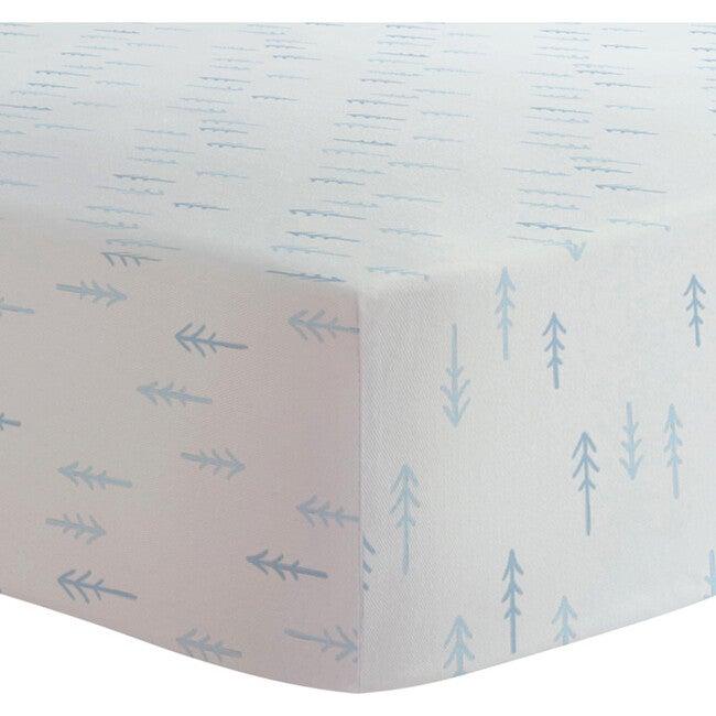 Organic 2 pack Crib Sheet, Pink Blue & White Arrows