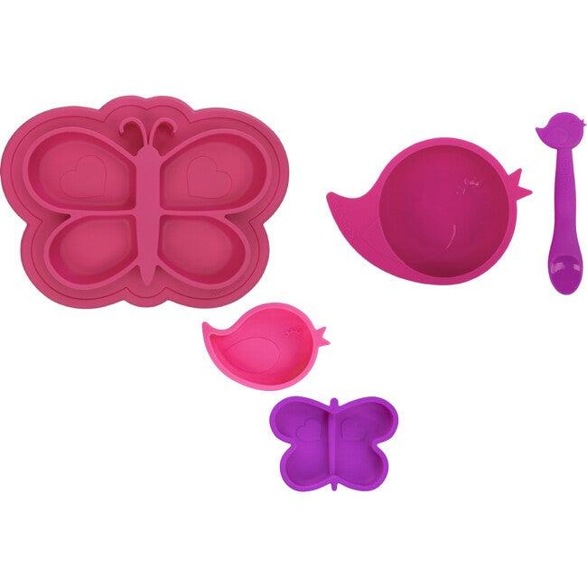 Kushies Silicone Feeding 5 PC Set, Candy & Purple - Food Storage - 1