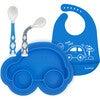 Kushies Silicone Feeding  4PC Set, Azure - Food Storage - 1 - thumbnail