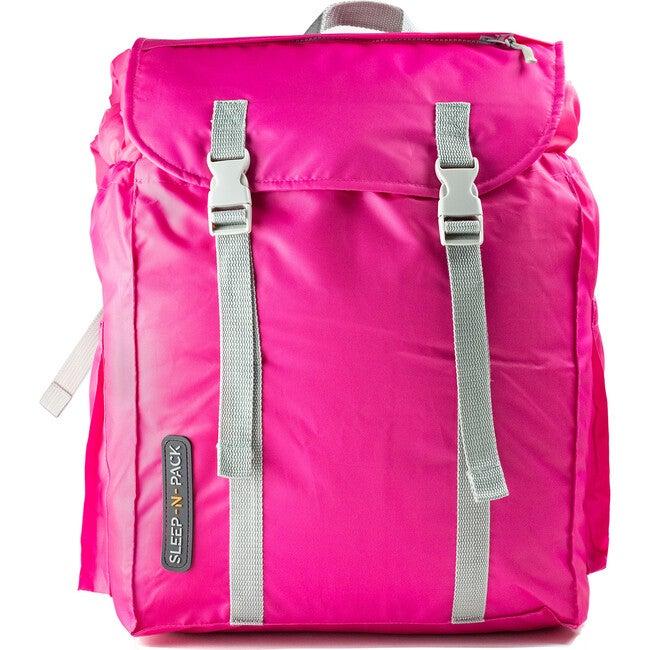 Sleep 'N' Pack Big Kids Sleeping Bag, Fuchsia/Coconut