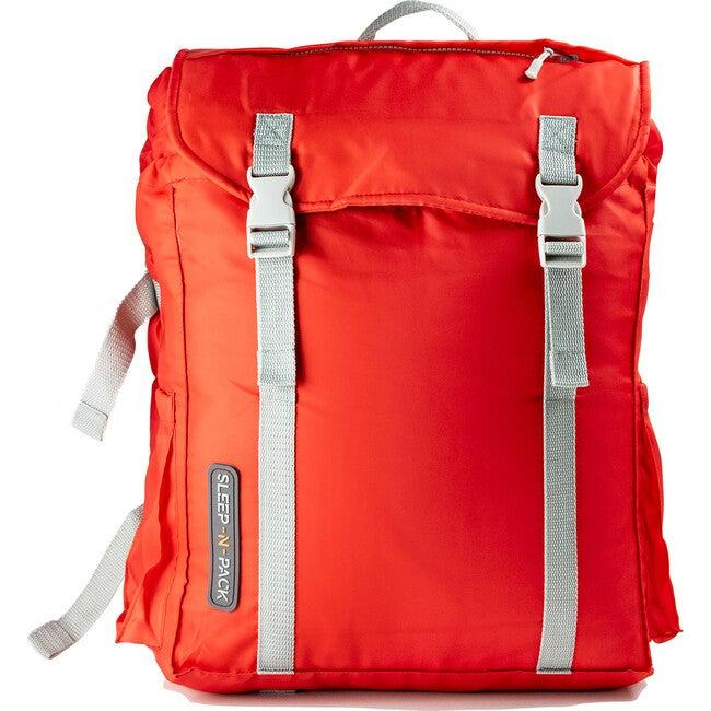 Sleep 'N' Pack Big Kids Sleeping Bag, Red/Grey