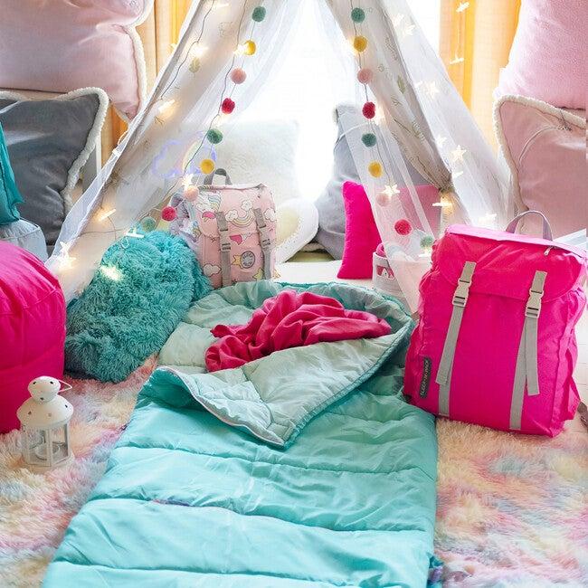 Sleep 'N' Pack Big Kids Sleeping Bag, Teal/Teal