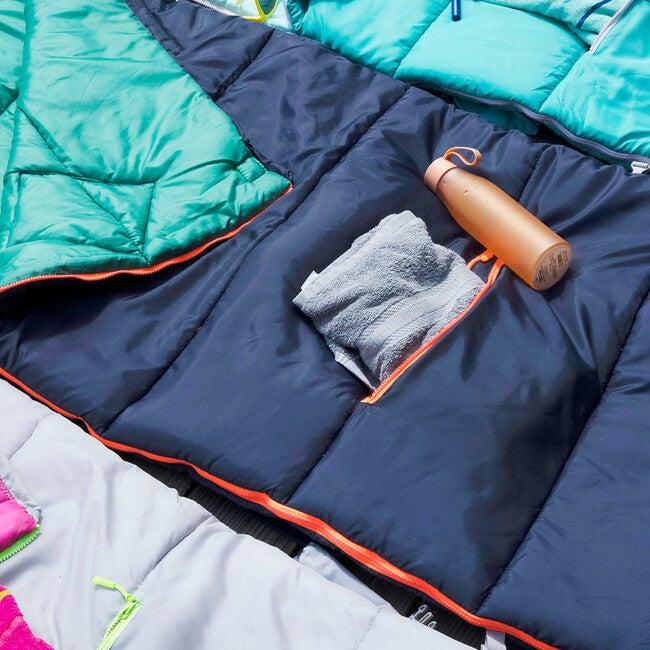 Sleep 'N' Pack Big Kids Sleeping Bag, Navy/Green