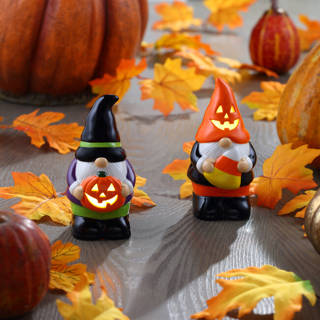 Set of 2 Halloween Gnomes, Multi