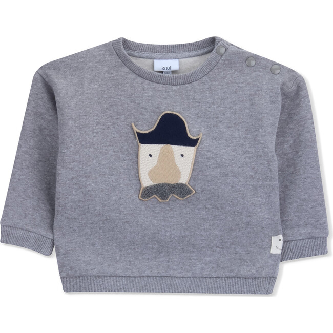 Sweatshirt Terry Baby Pirate, Grey