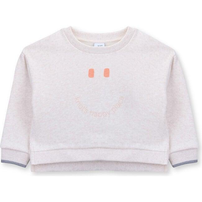 Sweatshirt Terry Happy, White