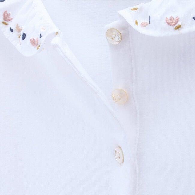 Polo Organic Cotton Flowers, White
