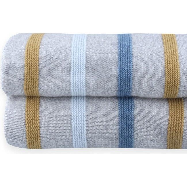 Knitted Blanket Newborn Lowri, Stripes