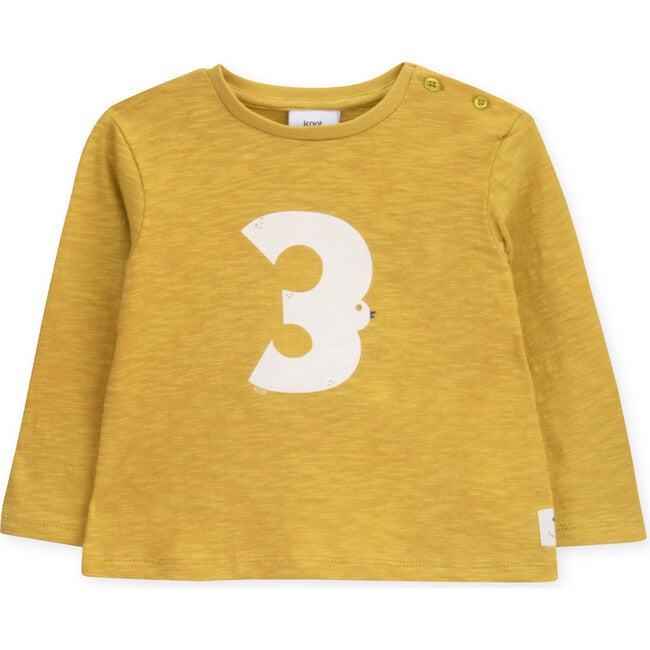 T-Shirt Long Sleeve Baby Organic Cotton High Flying Bird, Yellow