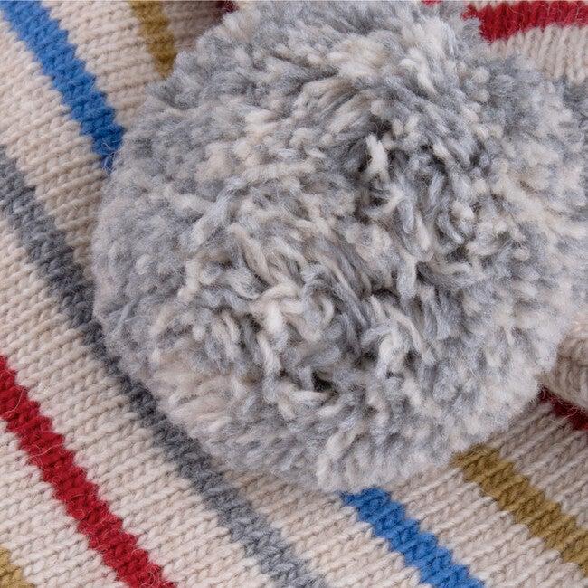 Beanie Knitted Baby Iggy, Stripes