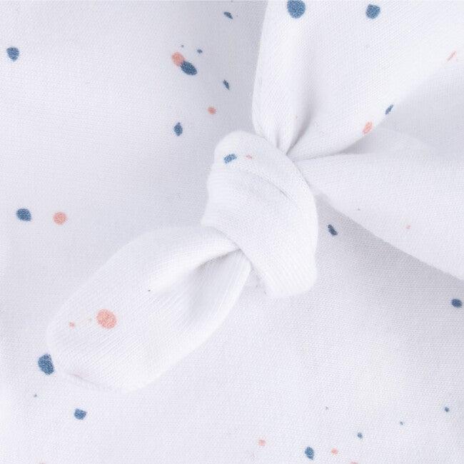 Beanie Newborn Organic Cotton Jackson, White