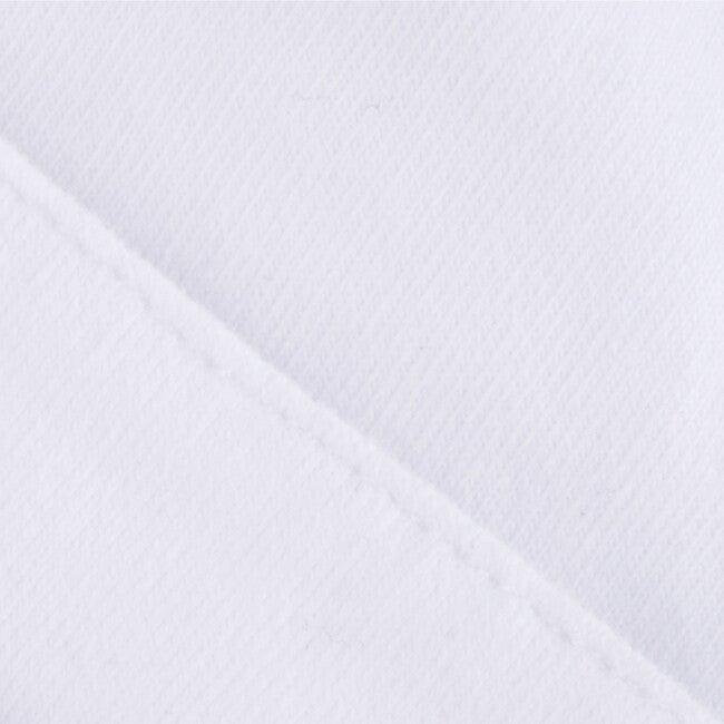 Beanie Newborn Organic Cotton Plain Fold, White
