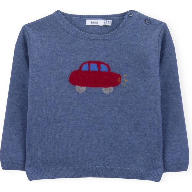 Sweater Baby Car, Blue - Sweaters - 1