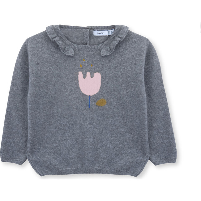 Sweater Baby Flower, Grey
