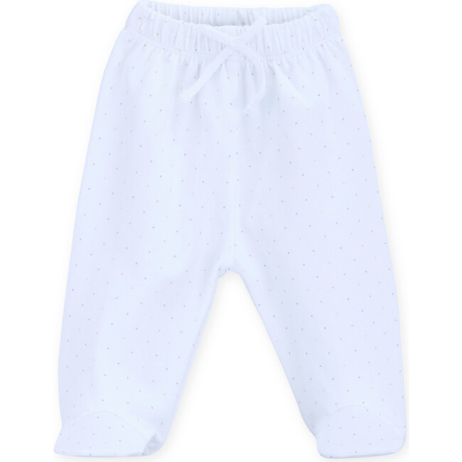 Newborn Trousers Tricot Seurat, White