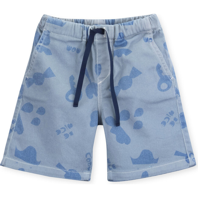 Shorts Baby Twill Cuts-Outs, Blue