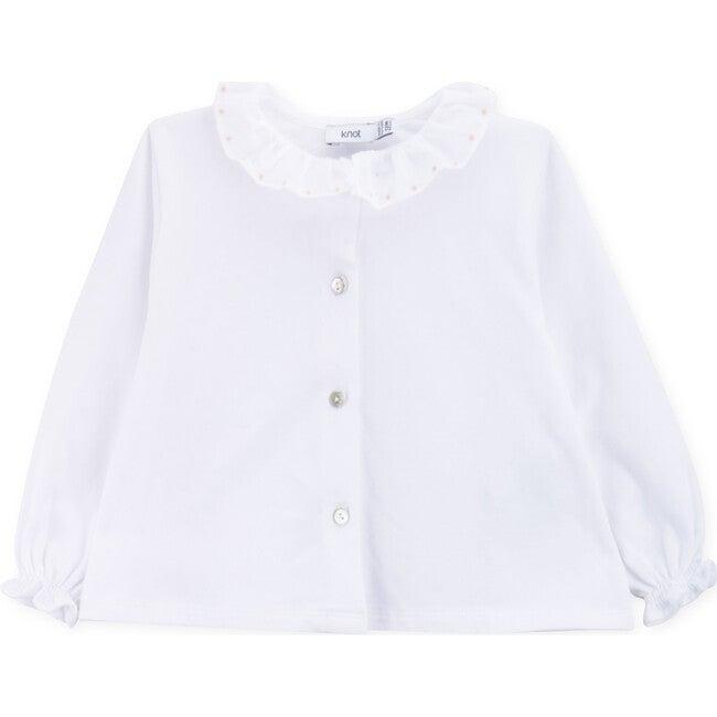 Baby Blouse Organic Cotton Dots, White