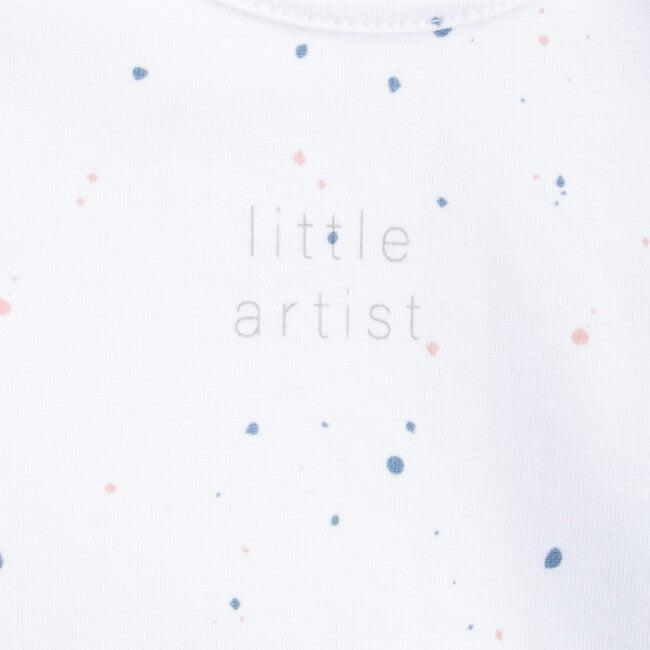 Long Sleeve Body Newborn Pollocka, White