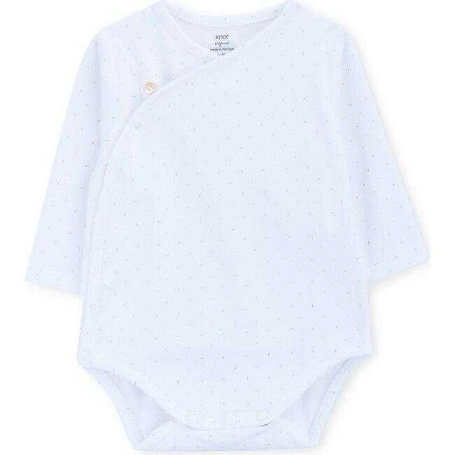 Long Sleeve Body Newborn Seurat, White