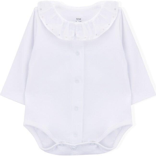 Long Sleeve Body Newborn Kusama, White