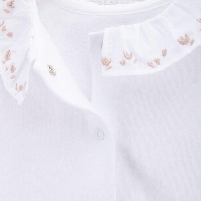 Long Sleeve Body Newborn Flowers All Around, White