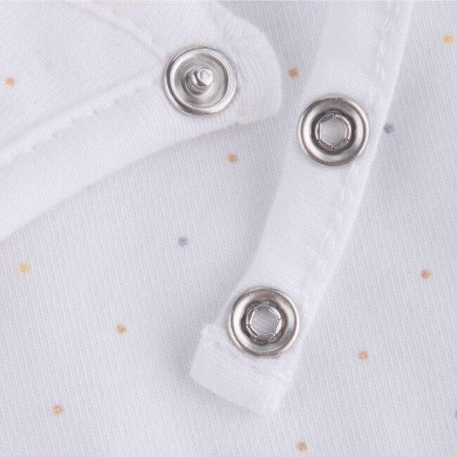 Bib Newborn Organic Cotton Zorani, White