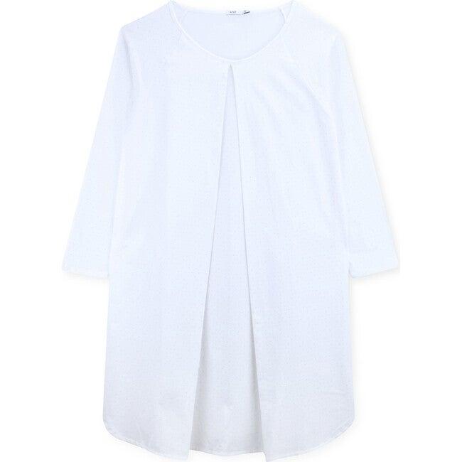 Breastfeeding Shirt Organic Cotton Helen, White