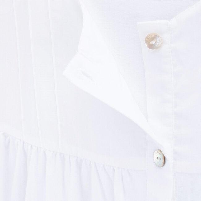 Breastfeeding Shirt Organic Cotton Lizzie, White
