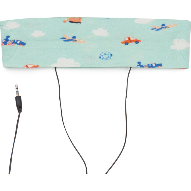 Sound Crowns Plane Print Headband Headphones, Mint