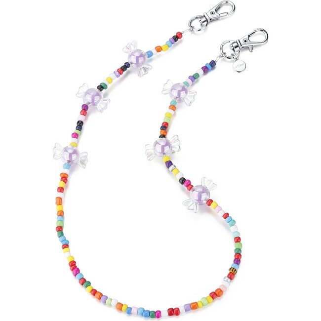 """20"""" Bead Necklace & Mask Chain, Multi"""