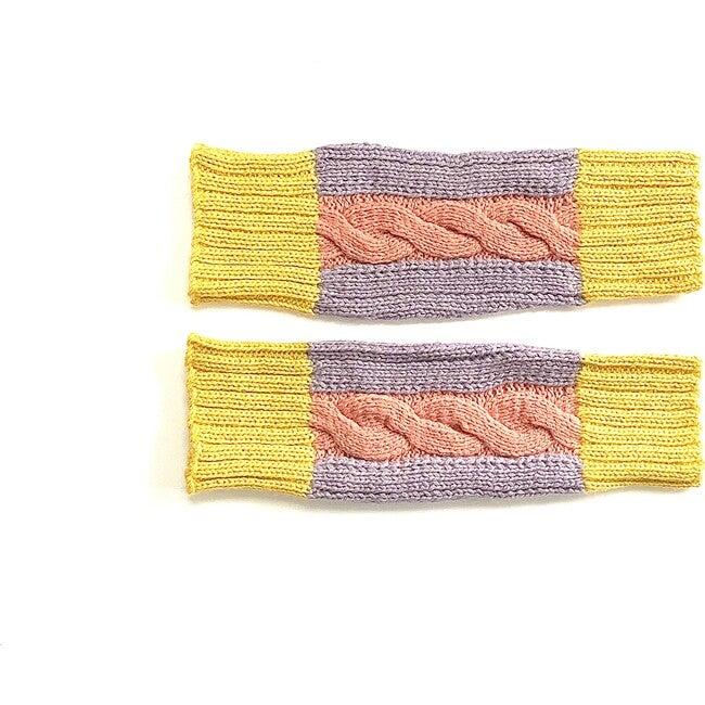 Multi Cable Leg Warmer, Pink/Lavendar