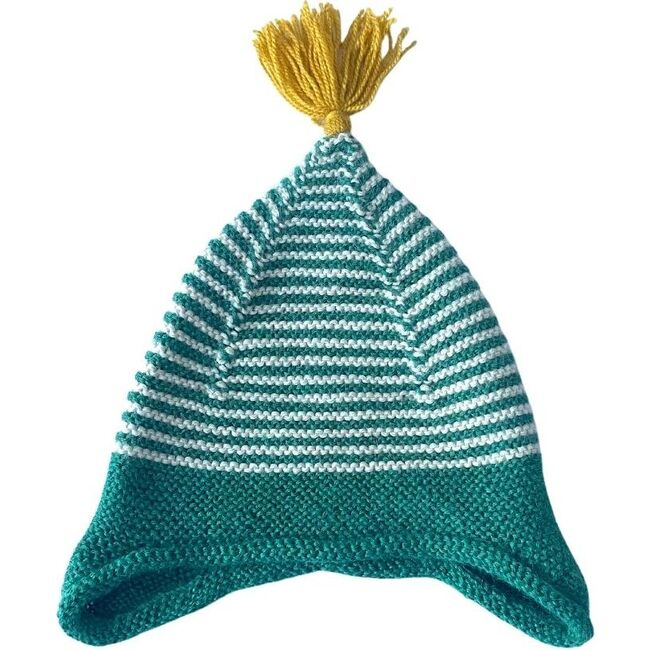 Tassled Ear Hat, Emerald