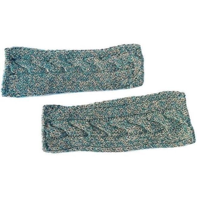 Fingerless Cable Glove, Hunter Green