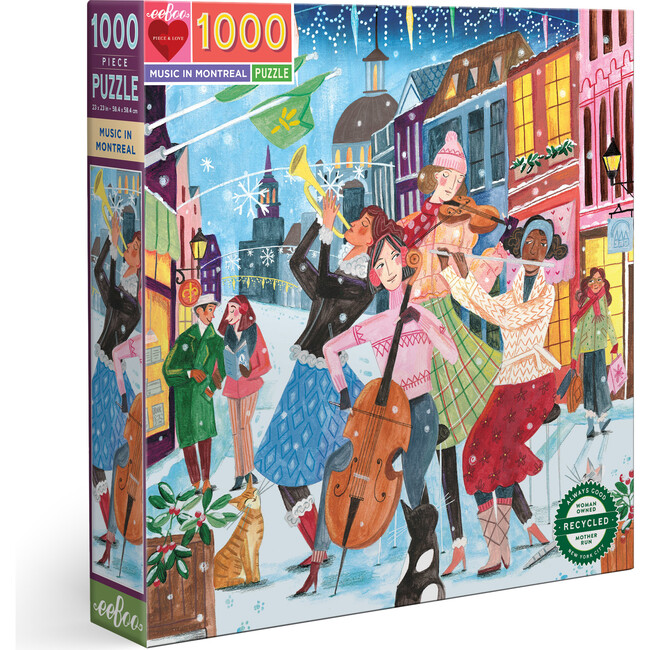 Music in Montreal 1000 Piece Square Puzzle