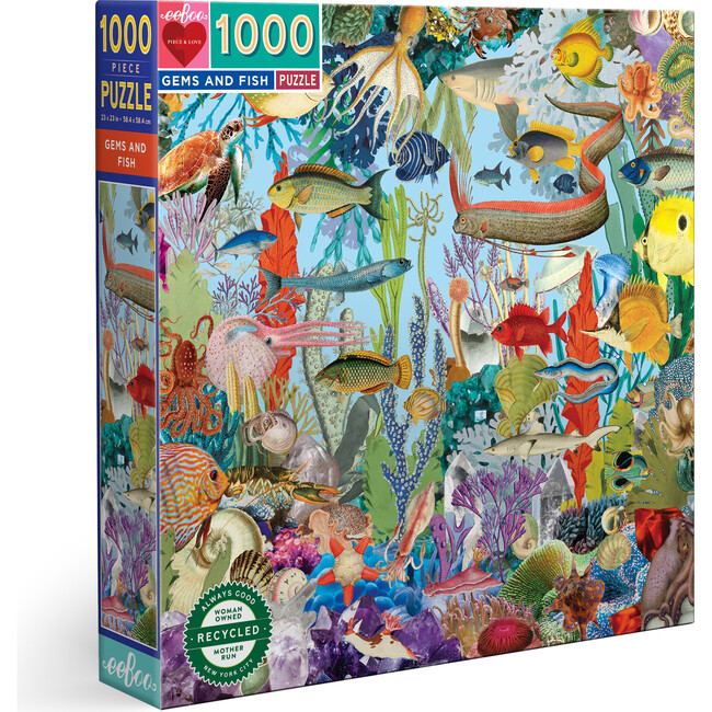 Gems and Fish 1000 Piece Square Puzzle
